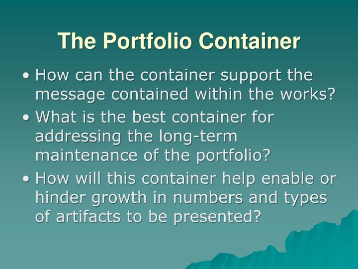 The Portfolio Container