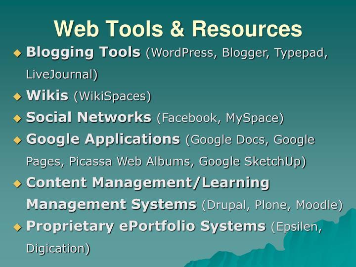 Web Tools & Resources