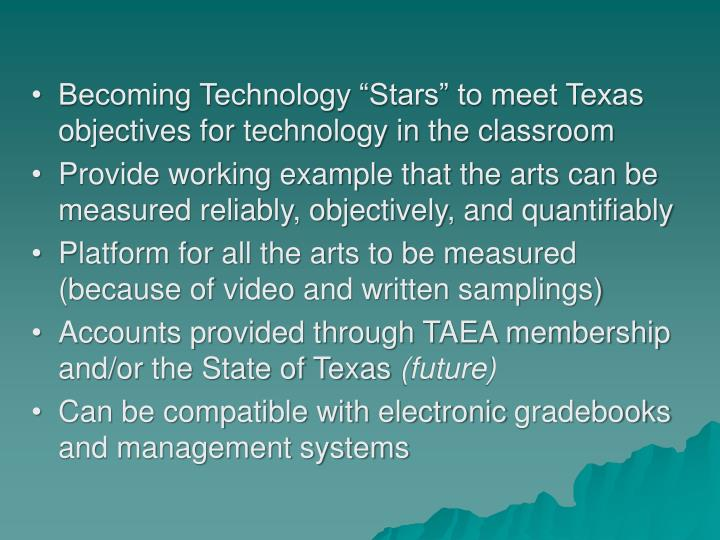 """Becoming Technology """"Stars"""" to meet Texas objectives for technology in the classroom"""