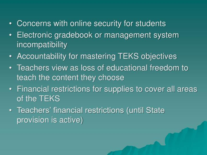 Concerns with online security for students