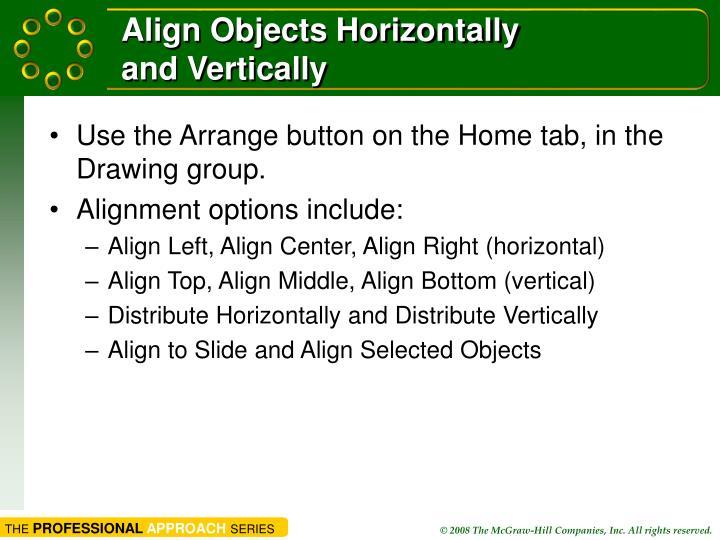 Align Objects Horizontally