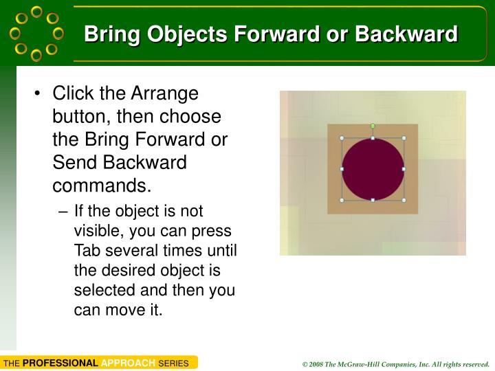 Bring Objects Forward or Backward