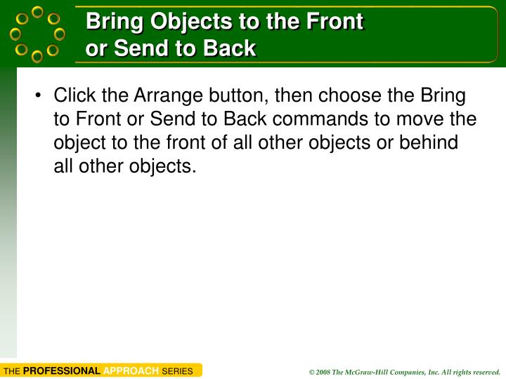 Bring Objects to the Front
