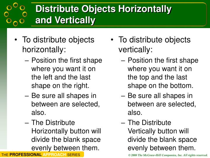 Distribute Objects Horizontally