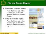flip and rotate objects