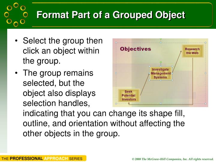 Format Part of a Grouped Object