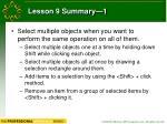lesson 9 summary 1