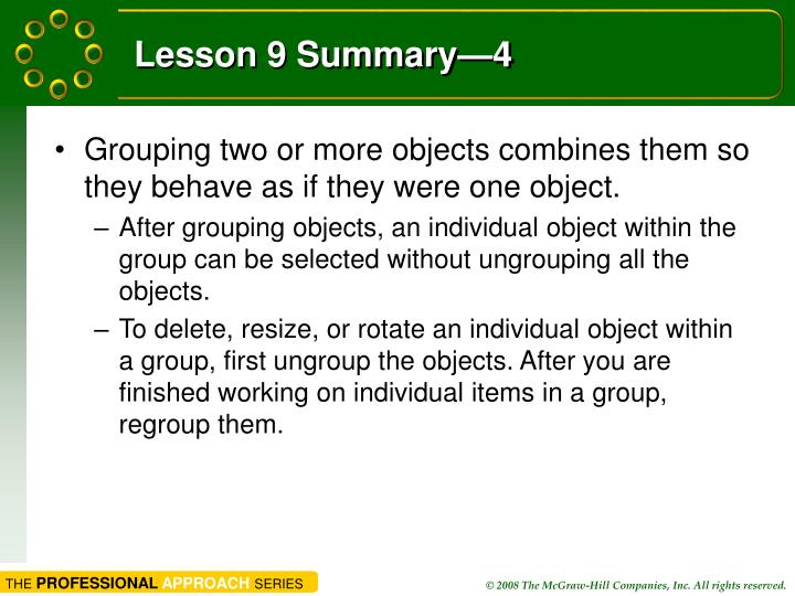 Lesson 9 Summary—4