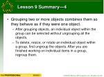 lesson 9 summary 4