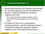 lesson 9 summary 5