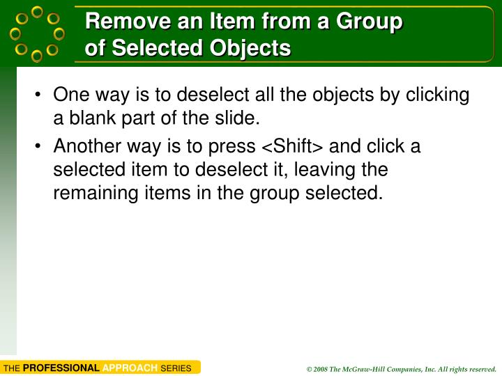 Remove an Item from a Group