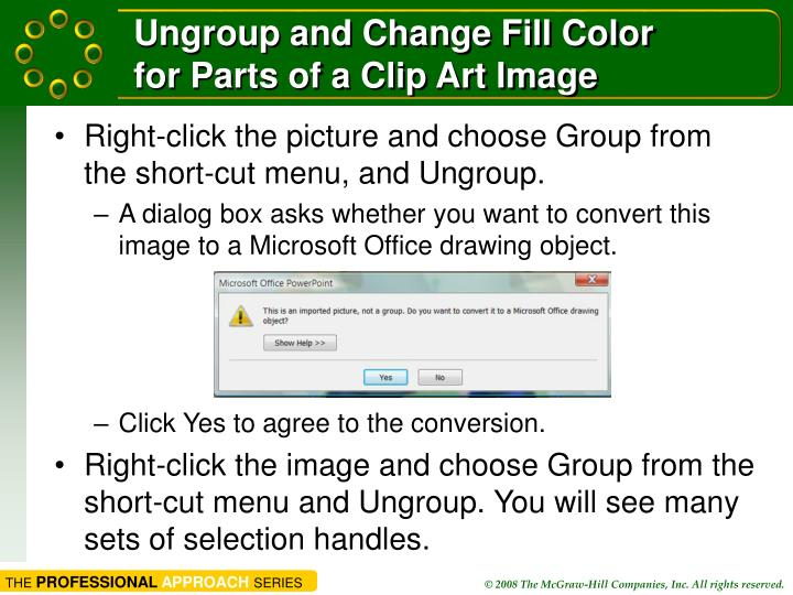 Ungroup and Change Fill Color