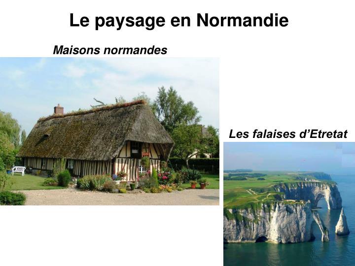 Le paysage en Normandie