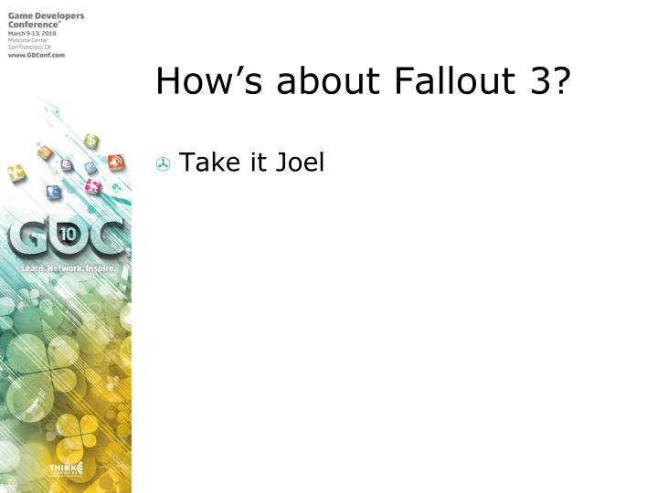 How's about Fallout 3?
