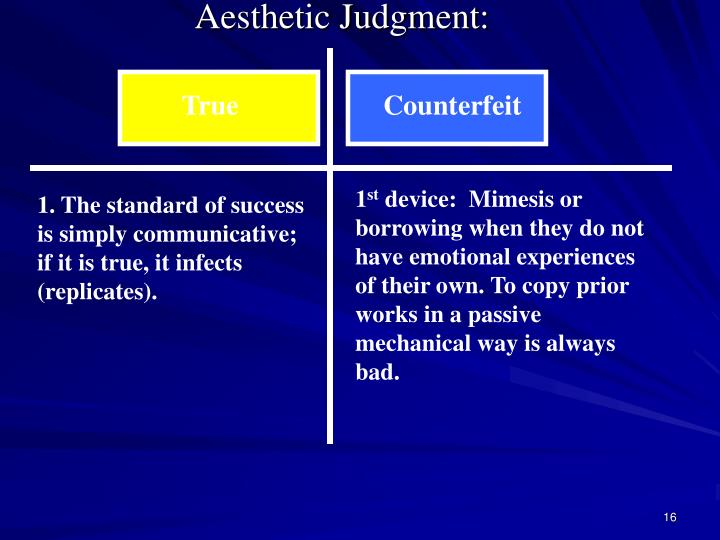 Aesthetic Judgment: