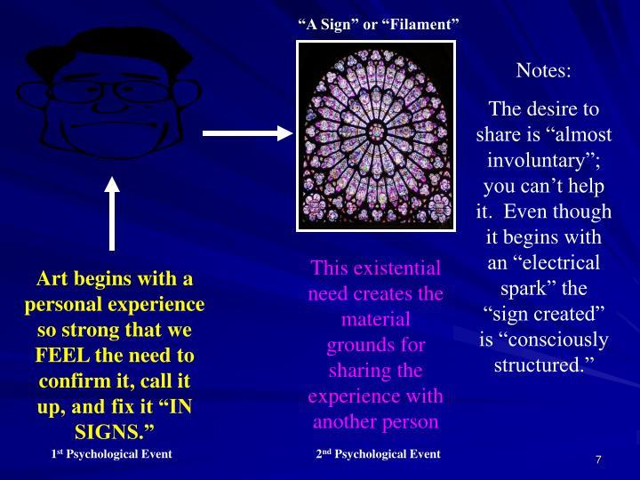 """""""A Sign"""" or """"Filament"""""""