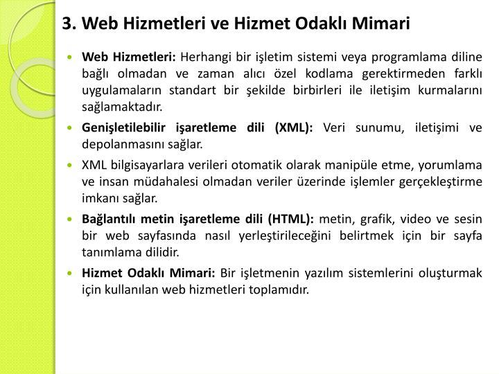 3. Web Hizmetleri ve Hizmet