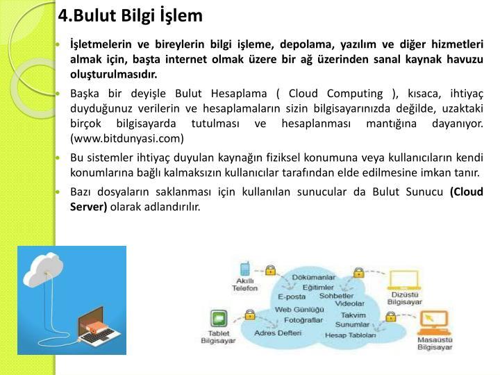 4.Bulut Bilgi İşlem