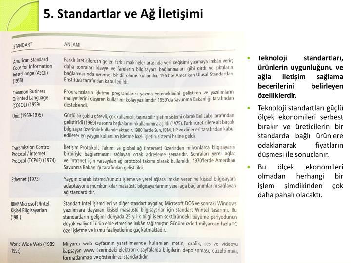 5. Standartlar