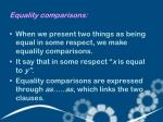equality comparisons