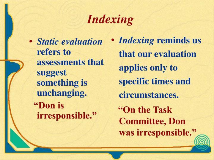 Static evaluation