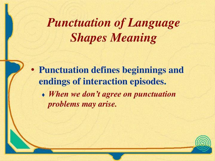 Punctuation of Language