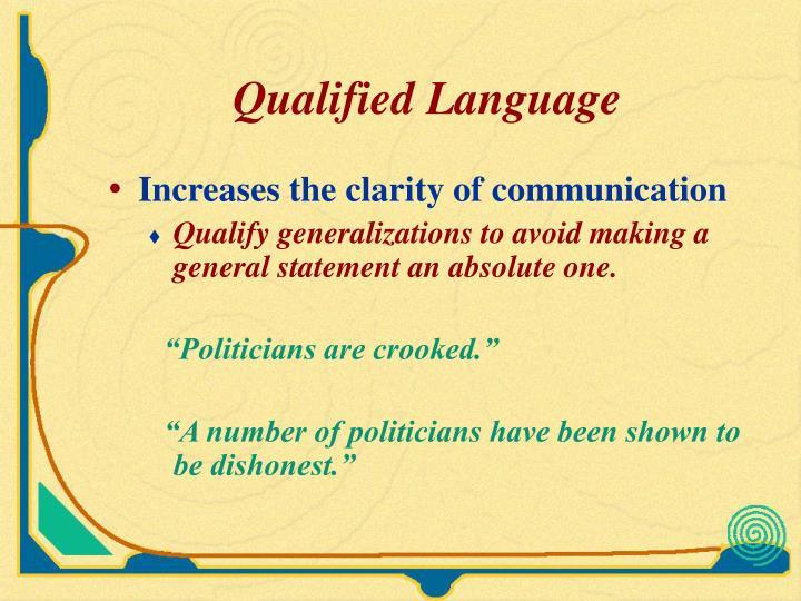 Qualified Language