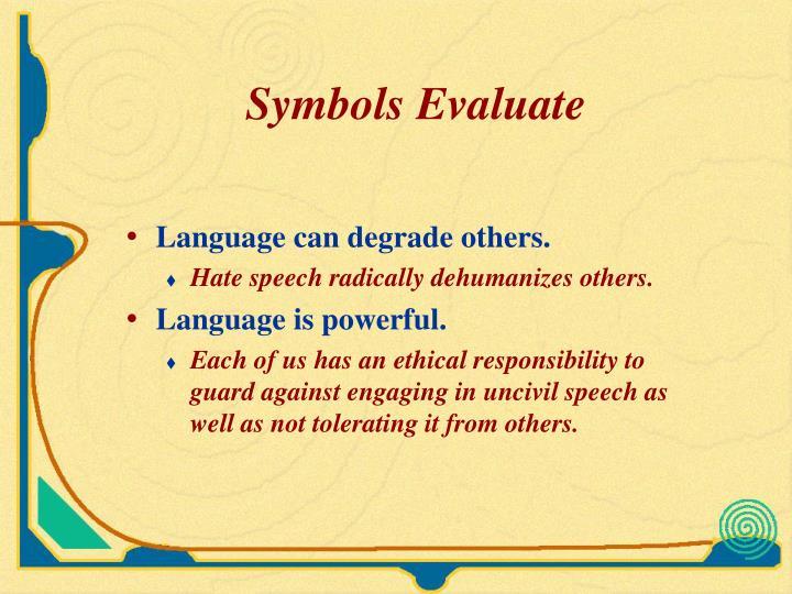 Symbols Evaluate