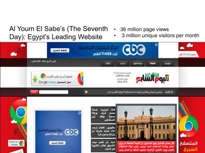 Al Youm El Sabe's (The Seventh Day): Egypt's Leading Website