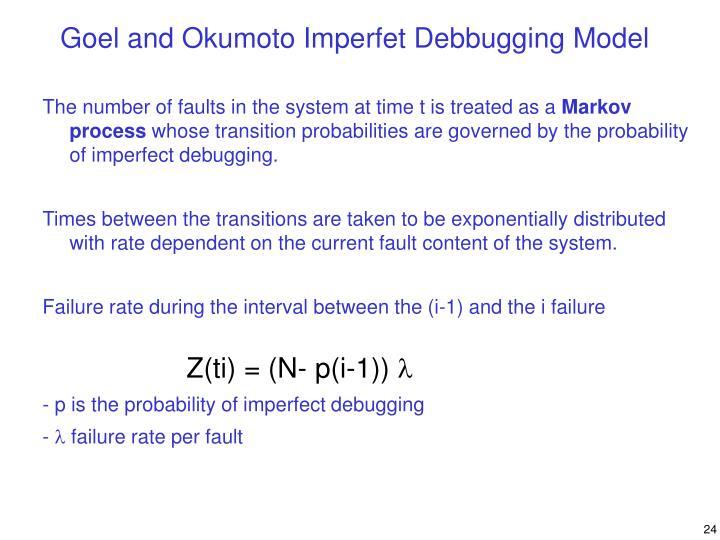 Goel and Okumoto Imperfet Debbugging Model