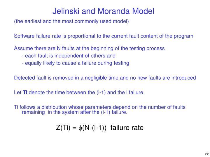 Jelinski and Moranda Model