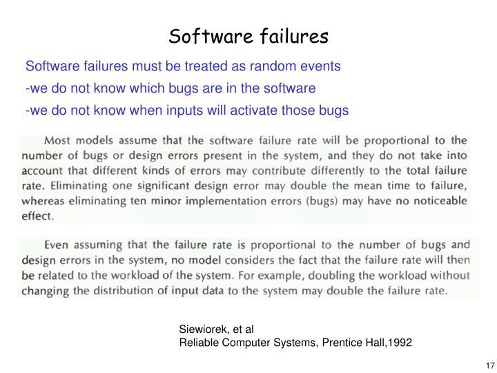 Software failures