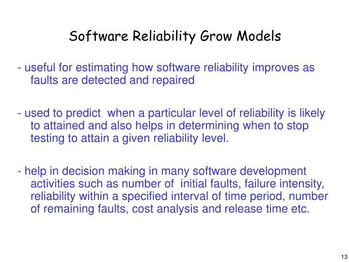 Software Reliability Grow Models
