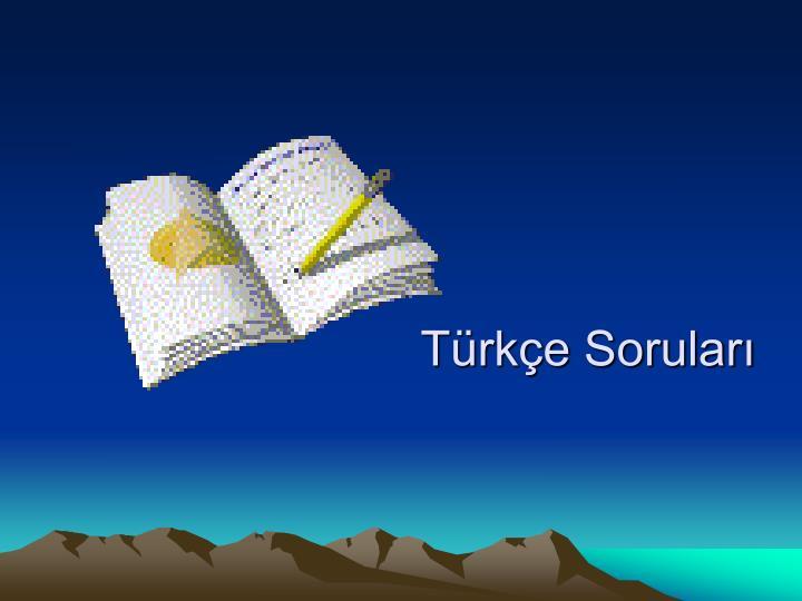 Türkçe Soruları