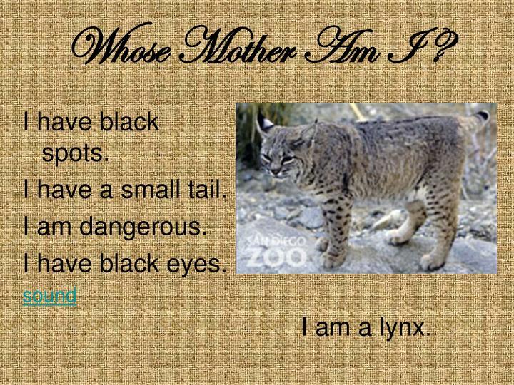I have black spots.