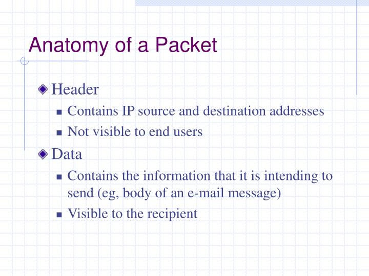 Anatomy of a Packet