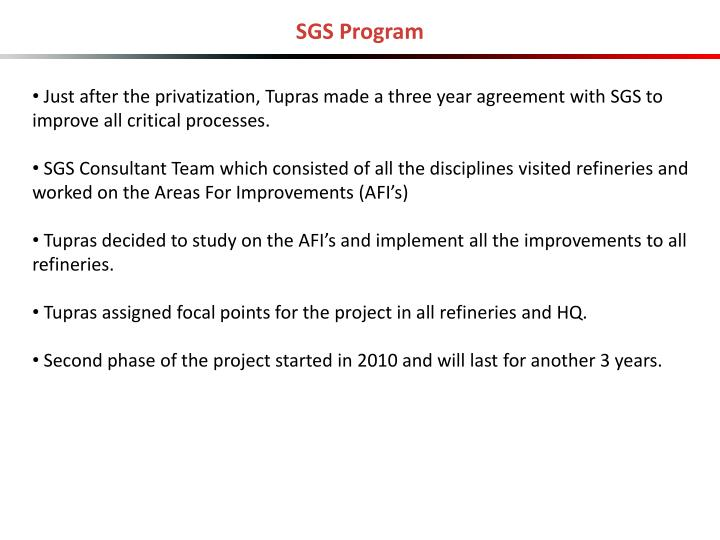 SGS Program