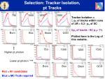 selection tracker isolation pt tracks