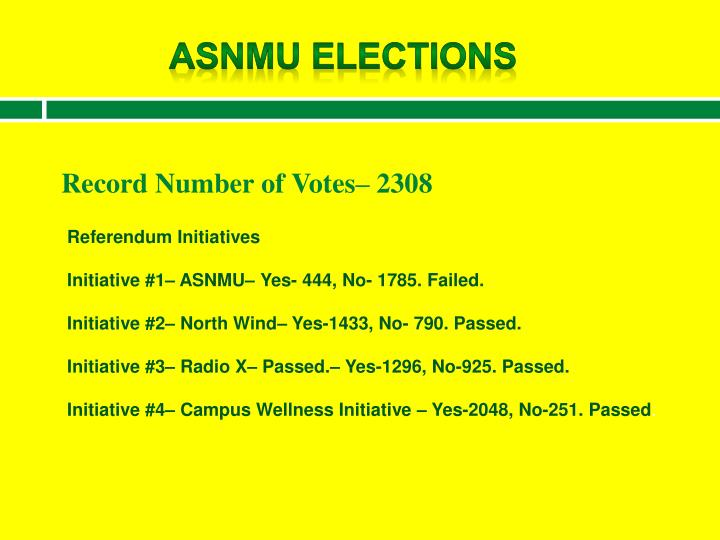 ASNMU Elections