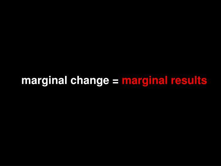 marginal change =