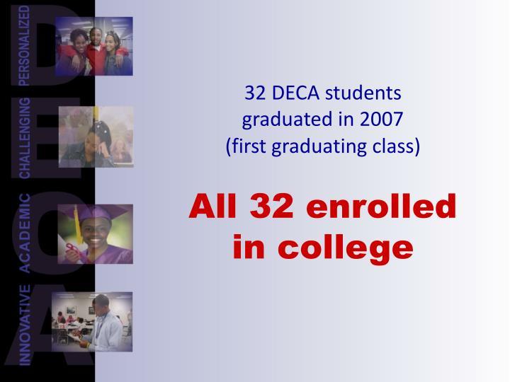 32 DECA students