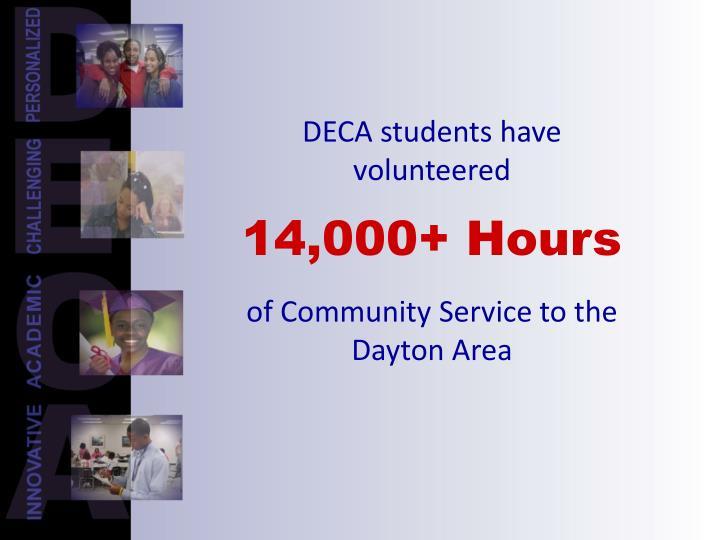 DECA students have volunteered