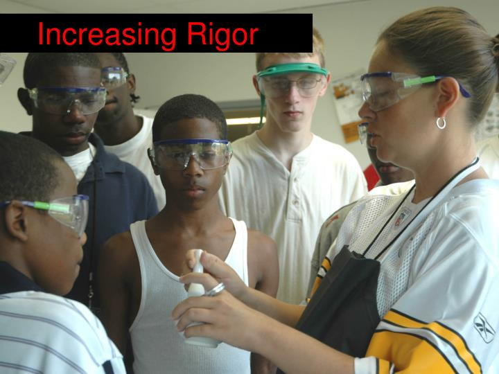 Increasing Rigor