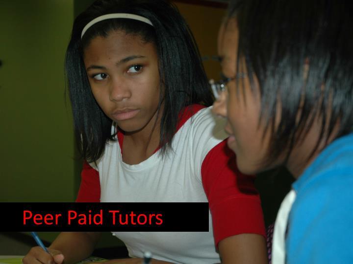 Peer Paid Tutors