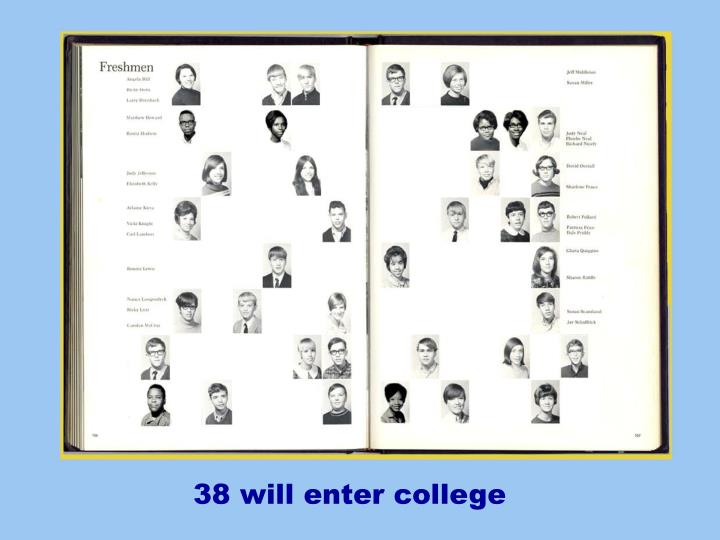 38 will enter college