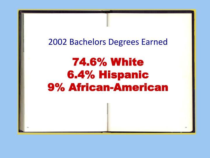 2002 Bachelors Degrees Earned