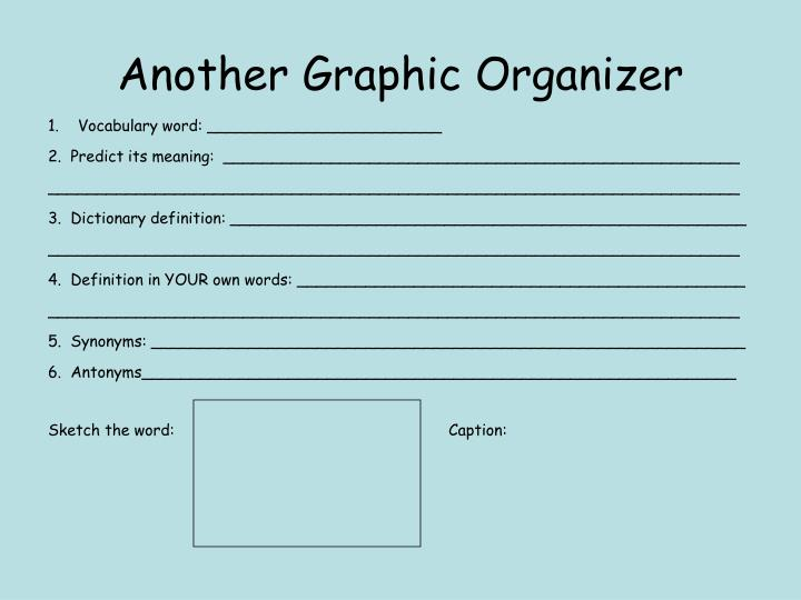 Another Graphic Organizer