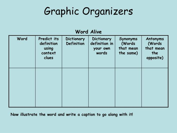 Graphic organizers word alive