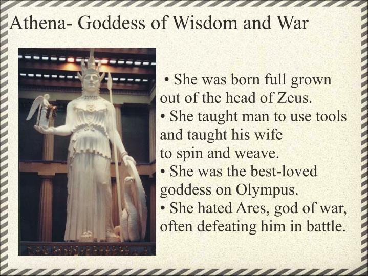 Athena- Goddess of Wisdom and War