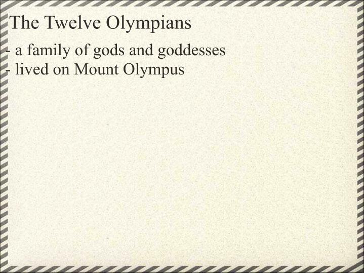 The Twelve Olympians
